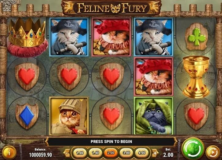 feline fury slot screen