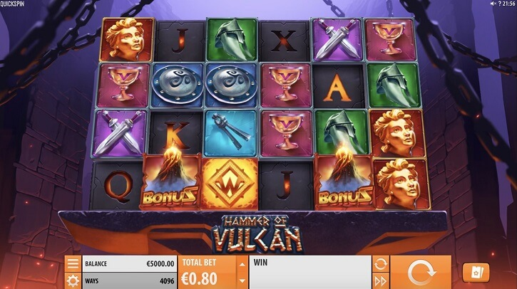 hammer of vulcan slot screen