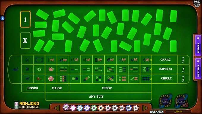 mahjong exchange game screen