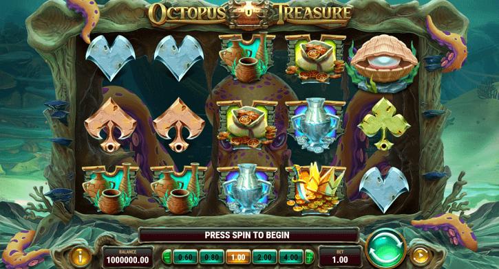 octopus treasure slot screen