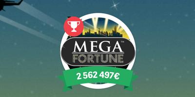 paf kasiino mega fortune