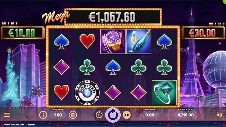 vegas night life slot screen