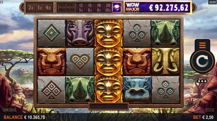 african legends slot screen