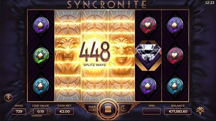 syncronite splitz slot screen