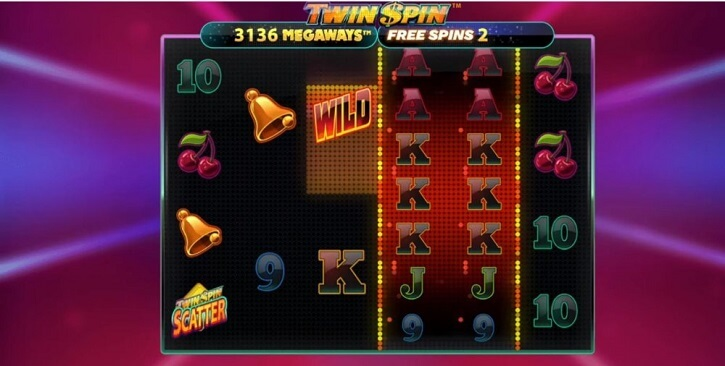 twin spin megaways slot screen