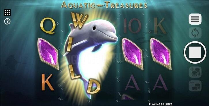 aquatic treasures slot screen