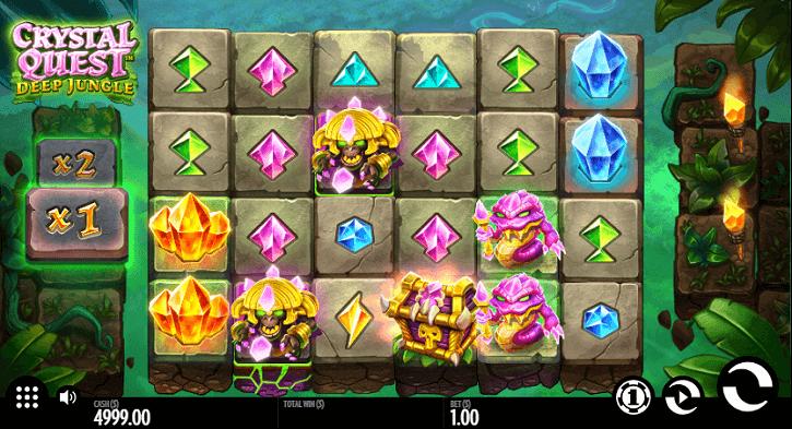 crystal quest deep jungle slot screen