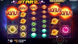 starz megaways slot screen small