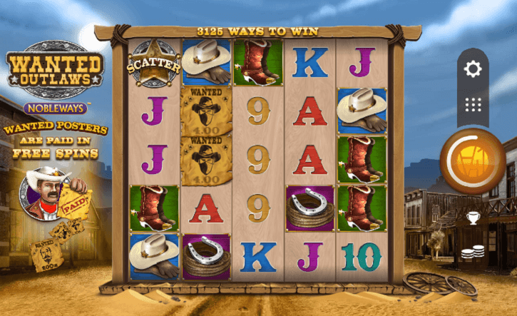 wanted outlaws slot screen